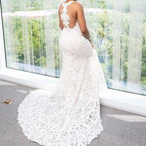 Martina Liana lace wedding dress